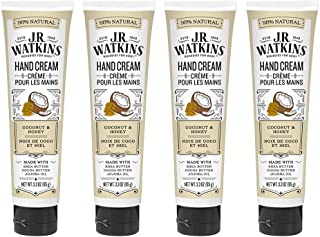 J.R. Watkins Hand Cream, Coconut, 3.3 Ounce (Pack of 4)