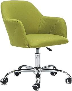 Silla giratoria de escritorio con ruedas, cojín grueso acolchado grueso para mayor comodidad y diseño ergonómico para silla de oficina en casa