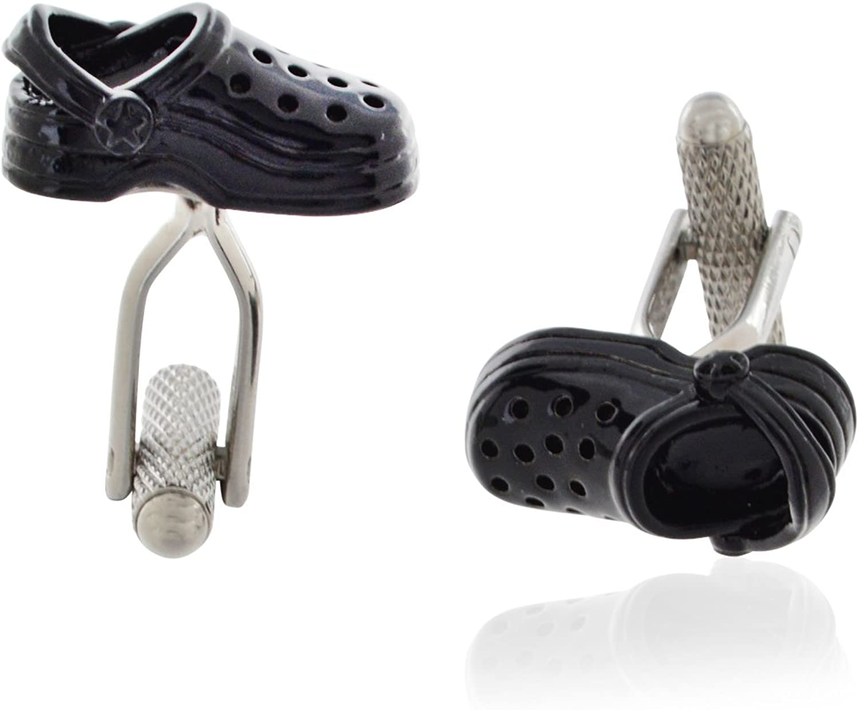 Black Crocs Cuff Links