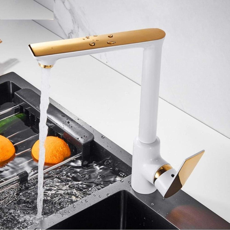 Spüle Wasserhahn WeiGold Küchenarmatur Heies und kaltes Wasser Mixer Crane Deck montiert Küchenarmaturen grifo cocina