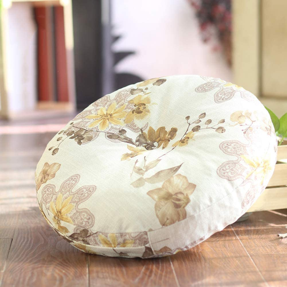 YEARLY Round Seat Popular products Cushion Flax Wa Chair Cushions Miami Mall Outdoor Indoor