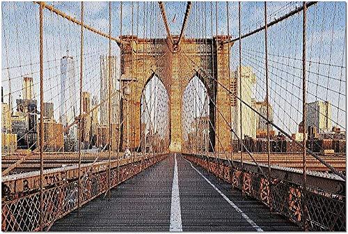GZFENG New York City NY - Puente de Brooklyn al Amanecer 9002484 (Rompecabezas para Adultos) 1000 Piezas