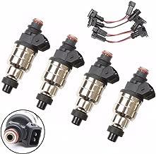 KingFurt 550cc Fuel Injectors Fit for Honda Acura Civic Integra OBD1 OBD2 B16 B18 B20 D15 D16 D18 F22 H22 VTEC (Set of 4)