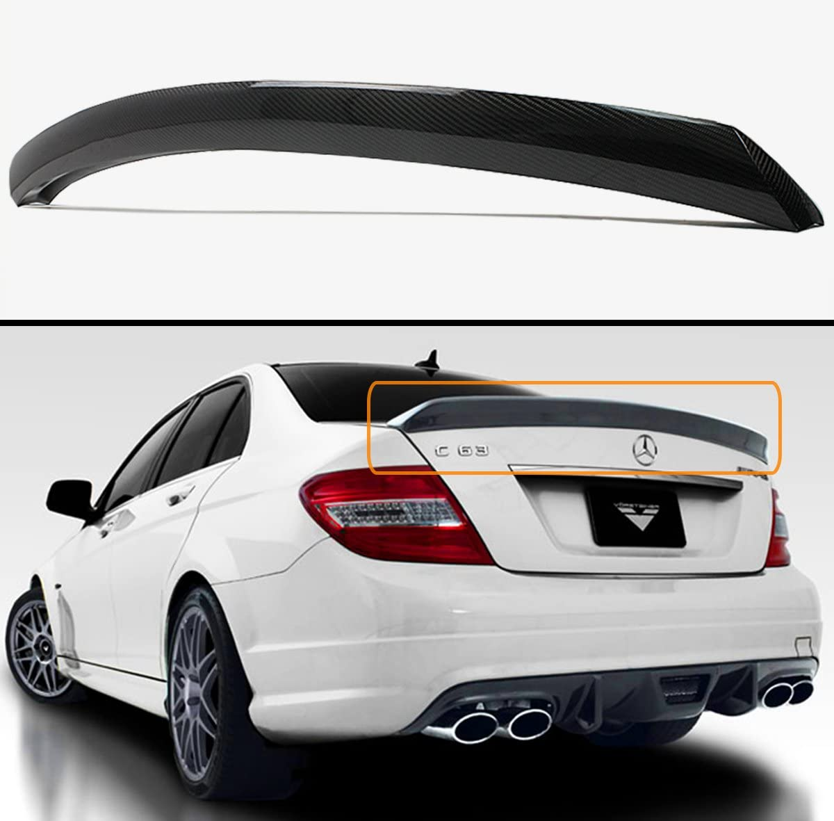Cuztom Tuning Fits for 2008-14 Mercedes Easy-to-use C250 Free shipping / New W204 Benz C63 C300