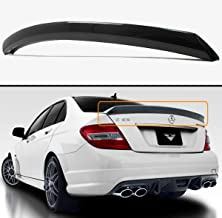 Cuztom Tuning Fits for 2008-14 Mercedes Benz W204 C250 C300 C63 4 DR Sedan Carbon Fiber High Kick V Style Trunk Spoiler Wing