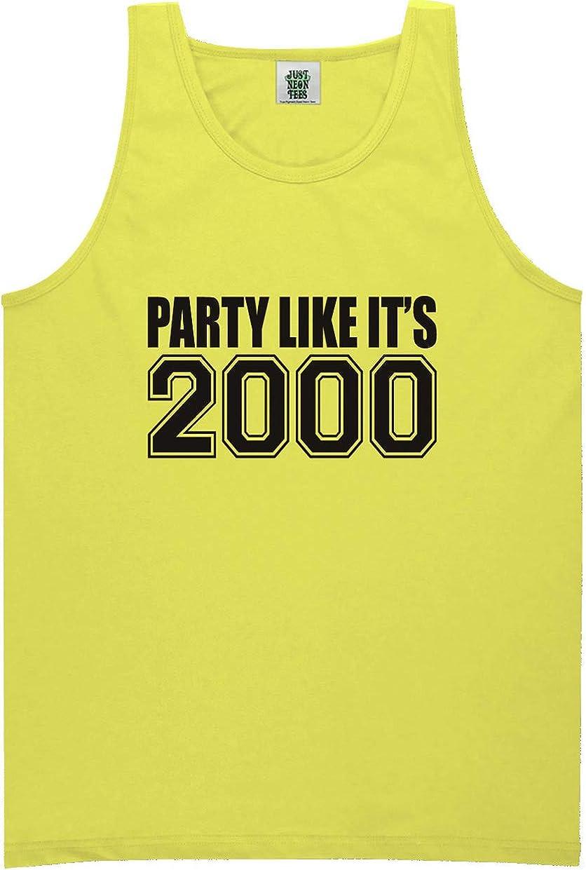 zerogravitee Party Like It's 2000 Bright Neon Tank Top