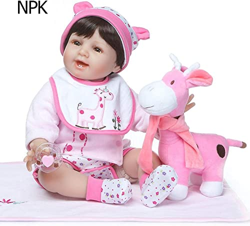 80% de descuento RLFS NPK Dolls 55CM Smile Smile Smile Face Reborn Doll Realista Silicona Suave para bebés  venta directa de fábrica