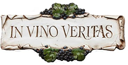 product image for Piazza Pisano in Vino Veritas, in Wine There is Truth, Wine Decor Sign