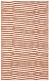 Safavieh Boston Collection Handmade Cotton Area Rug Orange/4'LX2'6 W/Accent