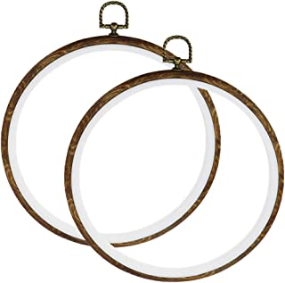 """Hoop Embroidery Karcy Cross Stitch Embroidery Hoop 8.43"""" Dia. Round Embroidery Circle for Art Craft Handy Sewing and Hangi..."""