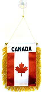 ALBATROS (Pack of 12) Canada Mini Flag 4 inch x 6 inch Window Banner with Suction Cup for Home and Parades, Official Party, All Weather Indoors Outdoors