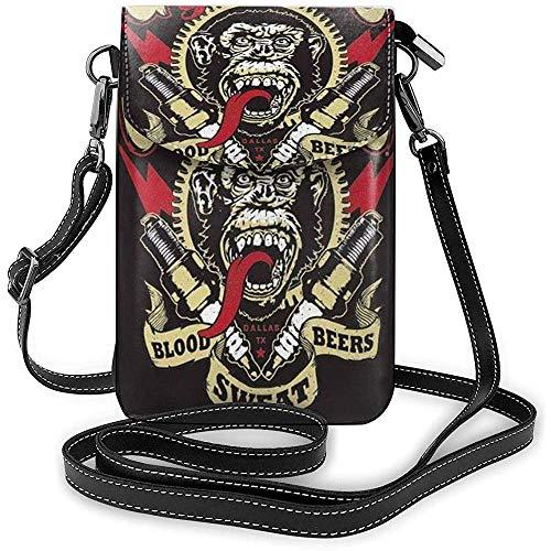 Bolso de Hombro para teléfonos Gas Monkey Black One Size Cool Graphic Monedero pequeño para Celular para Mujer