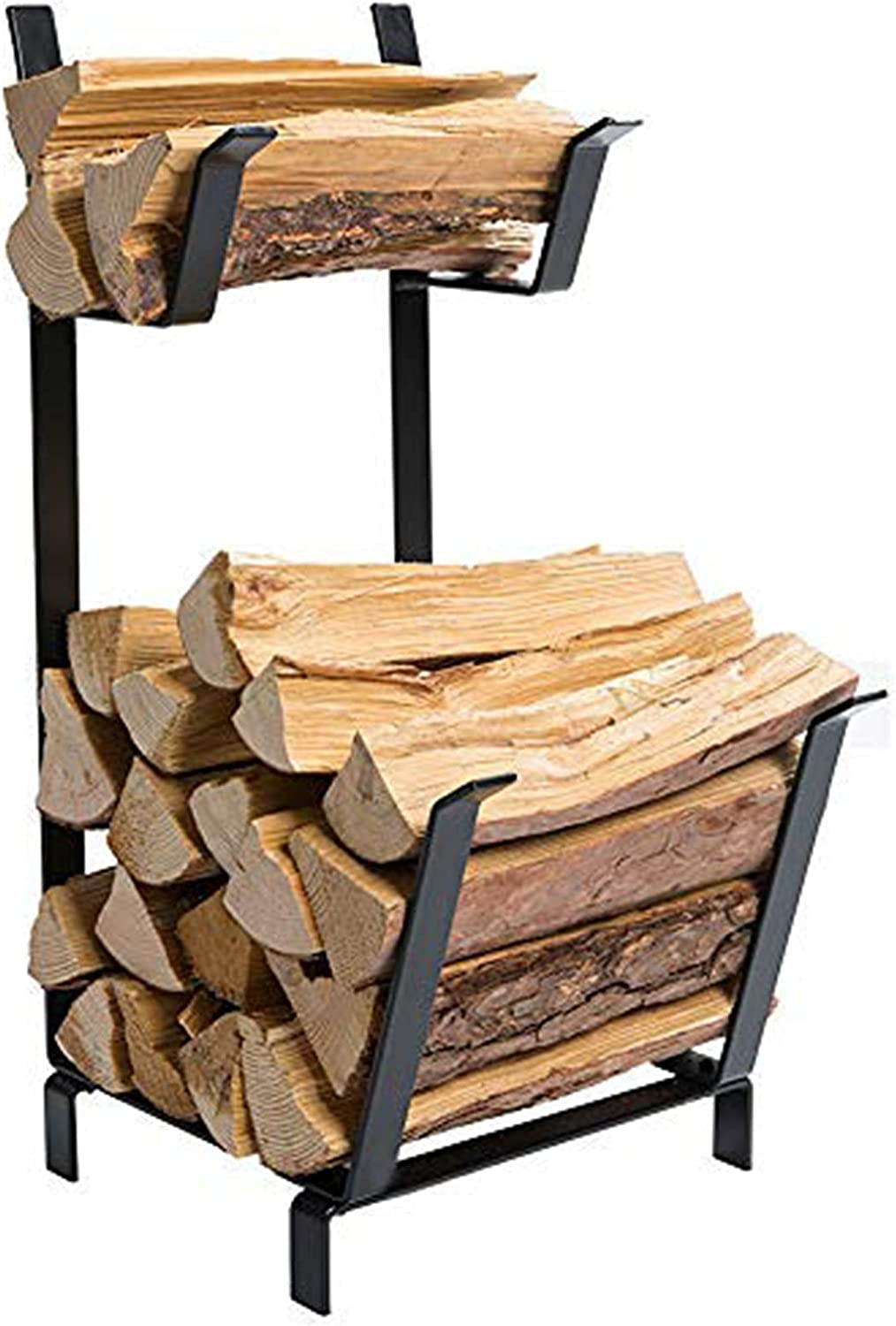 DOEWORKS 27 Fresno Mall Inches Two Tier Outdoor Practical Outlet ☆ Free Shipping Lo Indoor Firewood