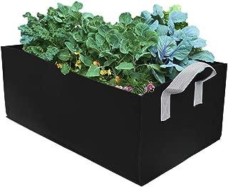 Raised Planter Garden Bed Bag,Felt Fabric Raised Garden Bed Square Planter Bag Container with Handle for Herb Flower Vegetable Plants