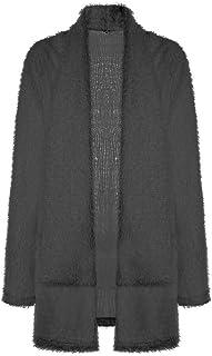 c1cb3c346ea Faionny Womens Cardigan Coat Loose Sweater Kimono Blouse Pocket Jacket  Solid Blazer Tops Long Sleeve Outwear