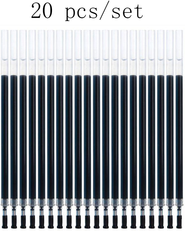 Liu Yu·Bürofläche, Büro Schreibwaren liefert liefert liefert 0,5 mm Neutral Stift Standard schwarz Nachfüllung 20 Stück   Set B06XR9182K | Vorzügliche Verarbeitung  50cff4