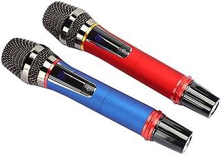 Wireless Karaoke Microphone Set, Handheld LED Display Wireless Microphone Home Audio System Accessory