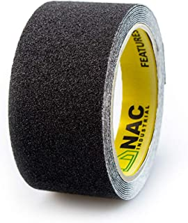 NAC INDUSTRIAL Anti Slip Tape - NAC SAFETY STANDARD - Strong Adhesive Non Slip Grip for Safety, Stairs, Steps, Ladders Indoor/Outdoor - Various Sizes & Colours (2