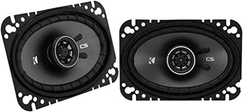 Kicker 43CSC464 CSC46 4×6-Inch Coaxial Speakers, 4-Ohm