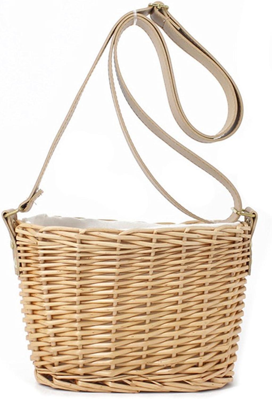 Straw Tote Handbag for women,Bohemian Rattan Hollow Crossbody TopHandle Beach Bags