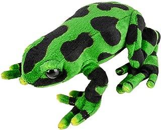 Wildlife Tree 8 Inch Small Green Poison Dart Frog Stuffed Animal Plush Floppy Zoo Reptile & Amphibian Collection