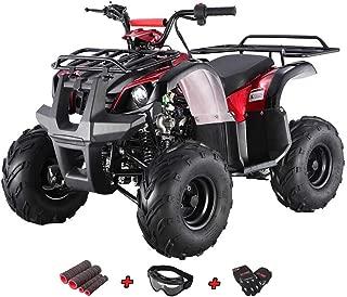 X-Pro 125 ATV Quad Kids ATV Youth ATV 4 Wheeler 125 ATV Quads with Gloves, Goggle and Handgrip
