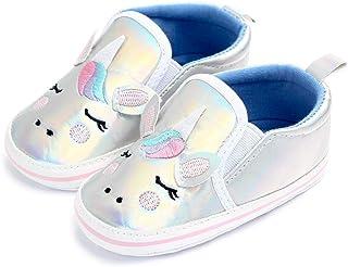 Toddler Hologram Crib Shoes Baby Girls Boys Unicorn Soft Sole Slip On Infant Walking Slippers