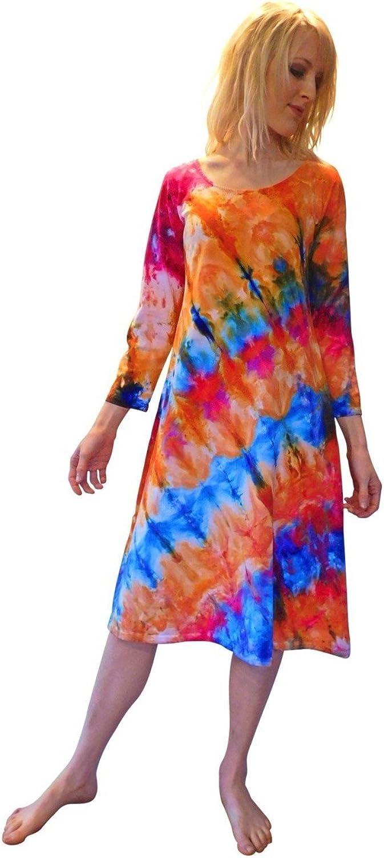 Martha Ice Tye Dye Tank Dress Hawaiian Sunset
