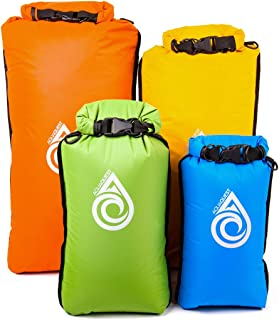Aqua Quest Coastal Sunset Dry Bag Set - 100% Waterproof Dry Bags Lightweight Combo with 5L, 10L, 20L, 30L Sacks