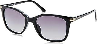 نظارة شمسية للنساء من كالفن كلاين، لون اسود، 54 ملم، CK19527S
