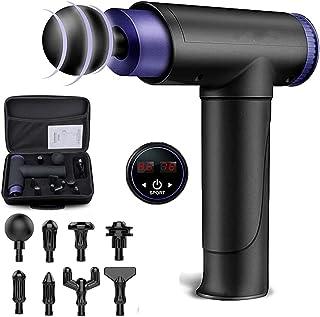 Pistola de Masaje Muscular,Massage Gun Pistola Masajeador de Percusión de Mano 22 Velocidades con Pantalla Táctil LCD Ultr...
