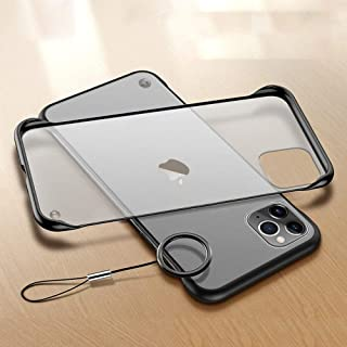 """Amozo iPhone 11 Pro Cases and Covers   Frameless Series Matte Semi Transparent Ultra Slim Case Cover with Camera Protection for iPhone 11 Pro (5.8"""") - Black"""