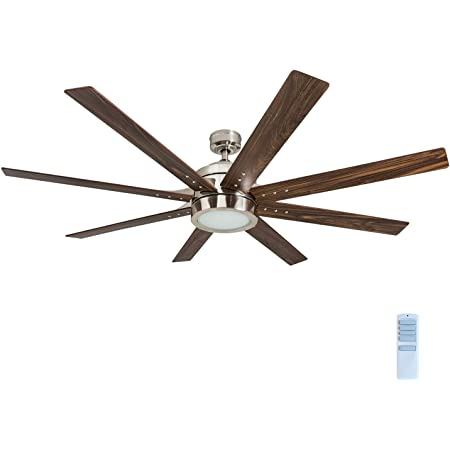 """Honeywell 50608-01 Xerxes Ceiling Fan with Remote Control, 62"""" Blades, Brushed Nickel"""