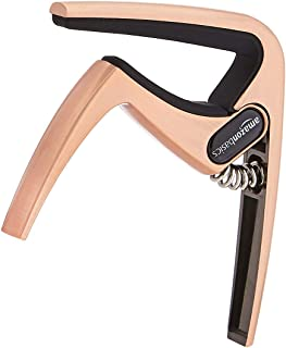 Amazon Basics Zinc Alloy Guitar Capo for Acoustic and Electric Guitar, Copper, 3-Pack