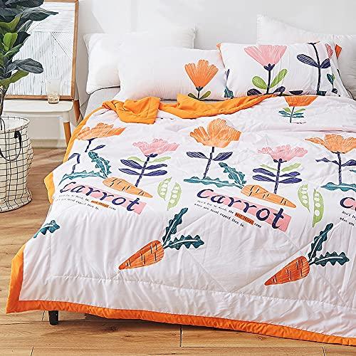YUTRD ZCJUX Lavable Coton Summer Cool Couette Couette Couette Couette Lavable Couette Couette Couette Je t'aime Lucy Queen Quilt Couetters (Color : Orange, Size : 200x230cm)