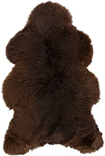 Vogar Genuine Sheepskin Rug with Soft Thick Wool VG-SH020, Brown Natural 90-100cm