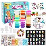 KIDDYCOLOR Slime Kit de Bricolaje, 108 Piezas de Slime para niños, con 18 Crystal Slime, 6 Slime Esponjoso, 48 Glitter Powder, Art Craft Toys Regalos para niños de 5 años o más