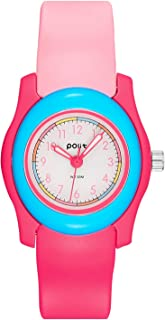 Kids Analog Watch Girls Boys,Children Waterproof Learning Time Soft Strap Wrist Watch for Child Ages 6-15