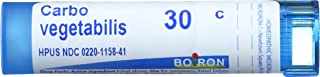 Carbo Vegetabilis 30C Homeopathic Medicine for Abdominal Bloating with Gas (80 Pellets)