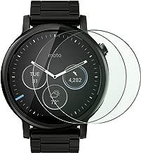 Motorola Moto 360 Glass Screen Protector,[2-Pack] HAOCITY Tempered Glass, Screen Protector for Moto 360 1st Generation, Moto 360 2nd Generation 46mm Watch