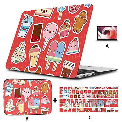 MacBook Case 13 Inch Japan Kawaii Cute Cartoon Painting MacBook Case 13 Inch Hard Shell Mac Air 11'/13' Pro 13'/15'/16' with Notebook Sleeve Bag for MacBook 2008-2020 Version