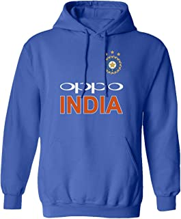 SMARTZONE Cricket India Jersey Style Cricket New Oppo Fans Supporter Hooded Sweatshirt