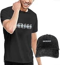 OYQGEJGPJA Kan-SAS Band Logo Men's T-Shirt and Hats Black