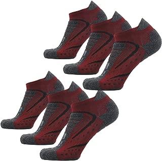 Men's Dri-Fit Athletic Padded Hiking Trekking Running Walking Ankle/Crew Socks 3/6/8 Pairs