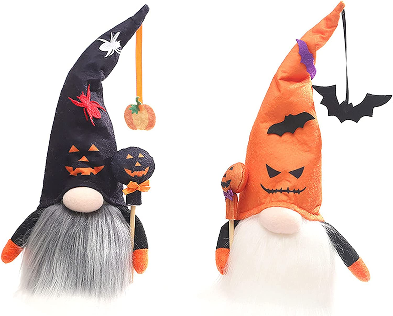 Algado Halloween Dwarf Gnomes Arlington Mall Max 42% OFF 2Pcs Faceless Plus Handmade Gnome