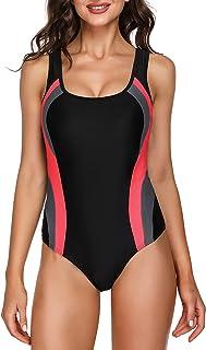 Sykooria One Piece Swimming Costume Tummy Control Swimsuit Monokinis Swimwear.