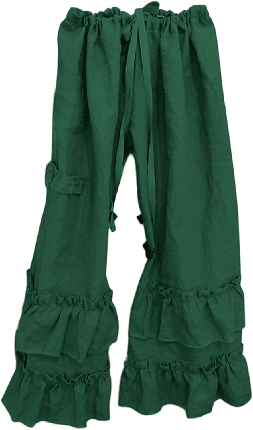 Andongnywell Women's High Waist Casual Pants Drawstring Stretchy Loose Baggy Long Lounge Pants with Pockets Trousers
