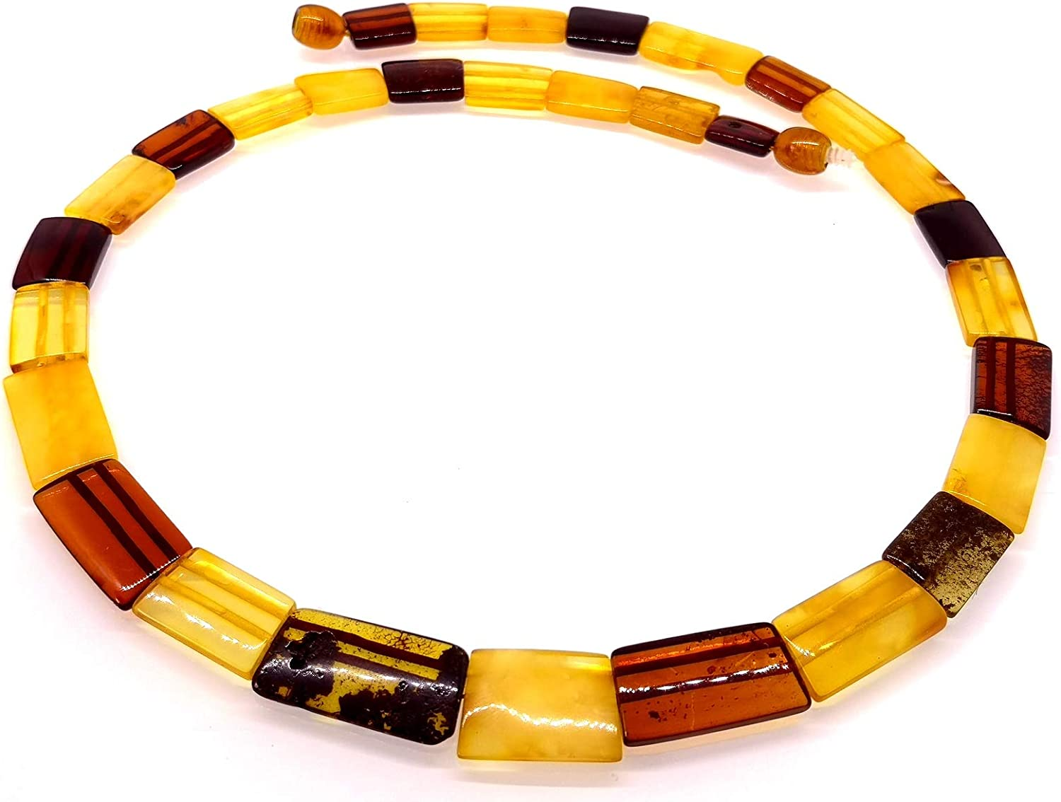 AMBERMILANA Natural Baltic Amber Necklace Collar/Women/Healing Amber Necklace/Certified Genuine Baltic Amber