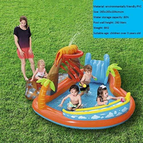 LIJUEZL Aufblasbare Poolwasserrutschen für Kinder, PVC-Blaumbad-Pool Rafts für Baby über 3 Jahre alt Kinderwasserspielzeug