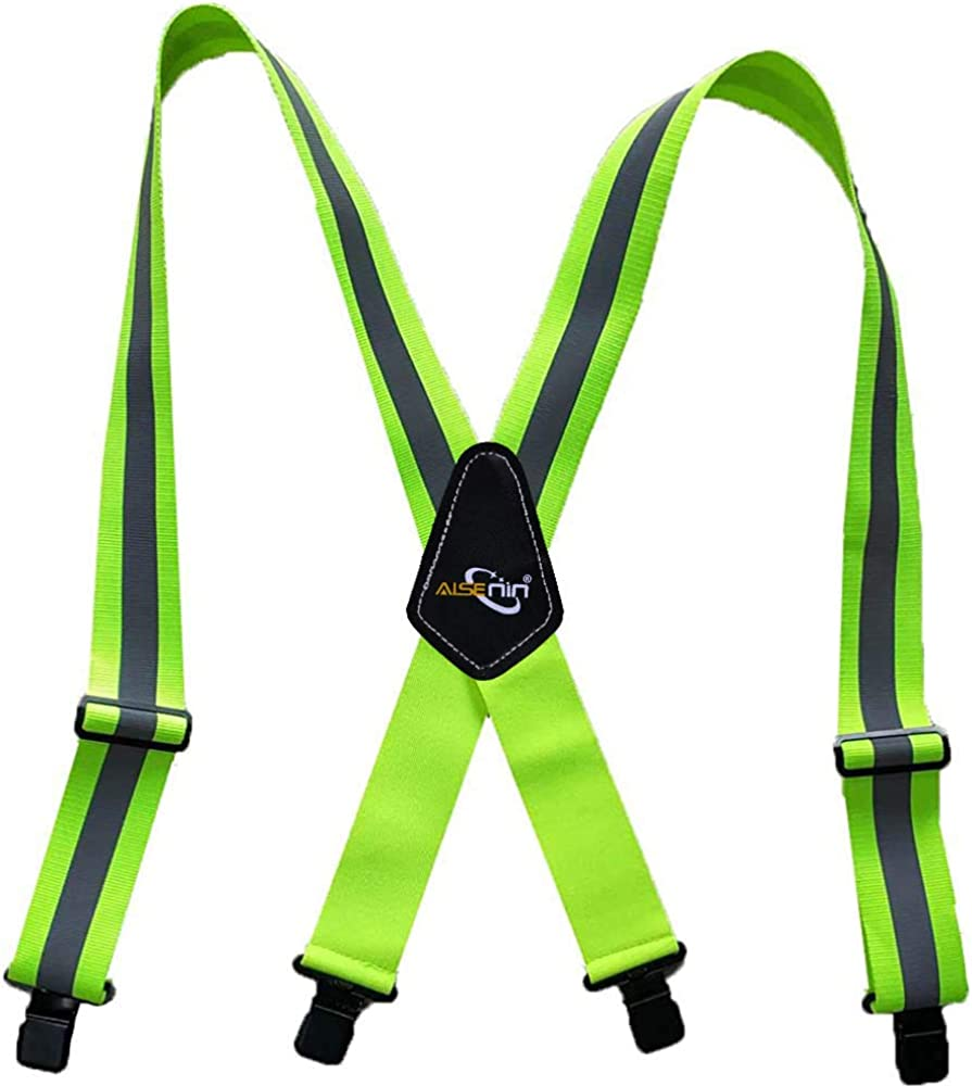 Men's Industrial Strength Suspenders 2 inch Work Suspenders for Men Heavy Duty